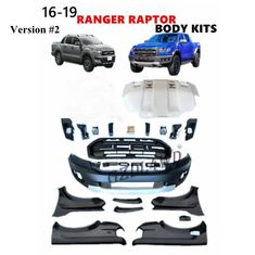 2015 2018 Ford Ranger T7 Wildtrak Raptor Body Kits Facelift Kits