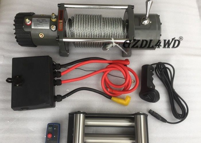 চীন Off Road Handlebar Mini Winch Electric Automotive 12v 24v 8000lbs For ATV কারখানা