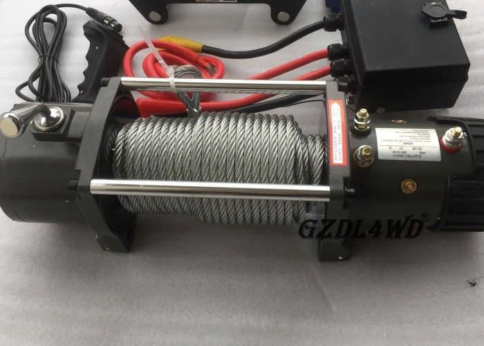 চীন 12v Truck Heavy Duty Electric Winch 8.3mm Steel Wire 9500lbs For Off Road কারখানা