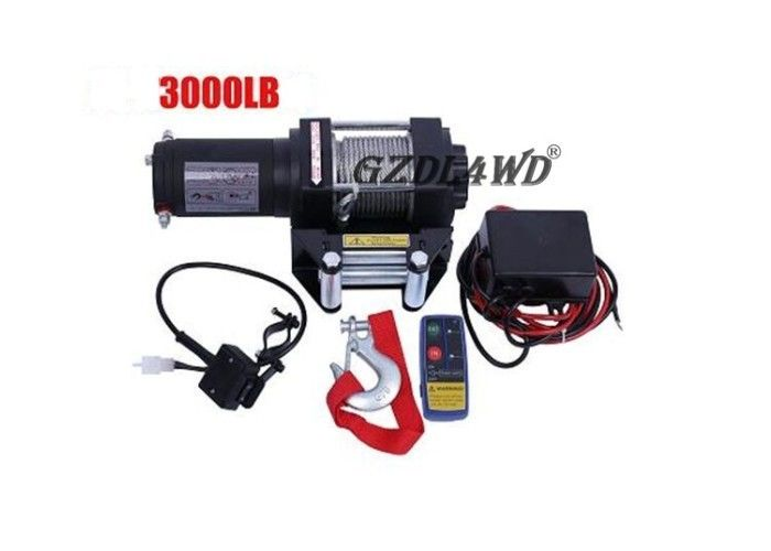 চীন Mini 3000lbs 24V 12V Heavy Duty Electric Winch Wire Rope ATV with Automatic Braking Action কারখানা