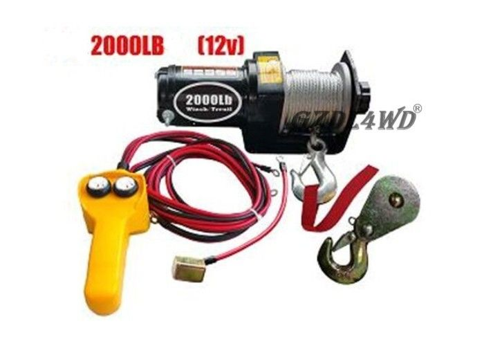 চীন 12V 2000LB Heavy Duty Electric Winch Truck With ATV Rope Wireless Remote কারখানা