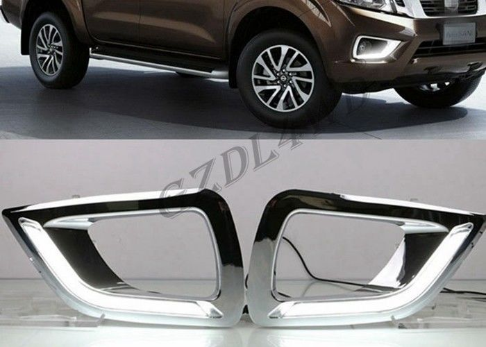 ABS Plastic Daytime Running Light Cover For Nissan Navara NP300 2016 DRL​