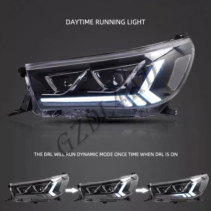 Clear Lens 4x4 Driving Lights  ,  Toyota Hilux Revo Rocco 2015 LED DRL Projector Head Light